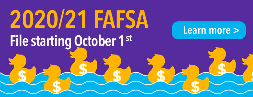 File for 2019/20 FAFSA October 1